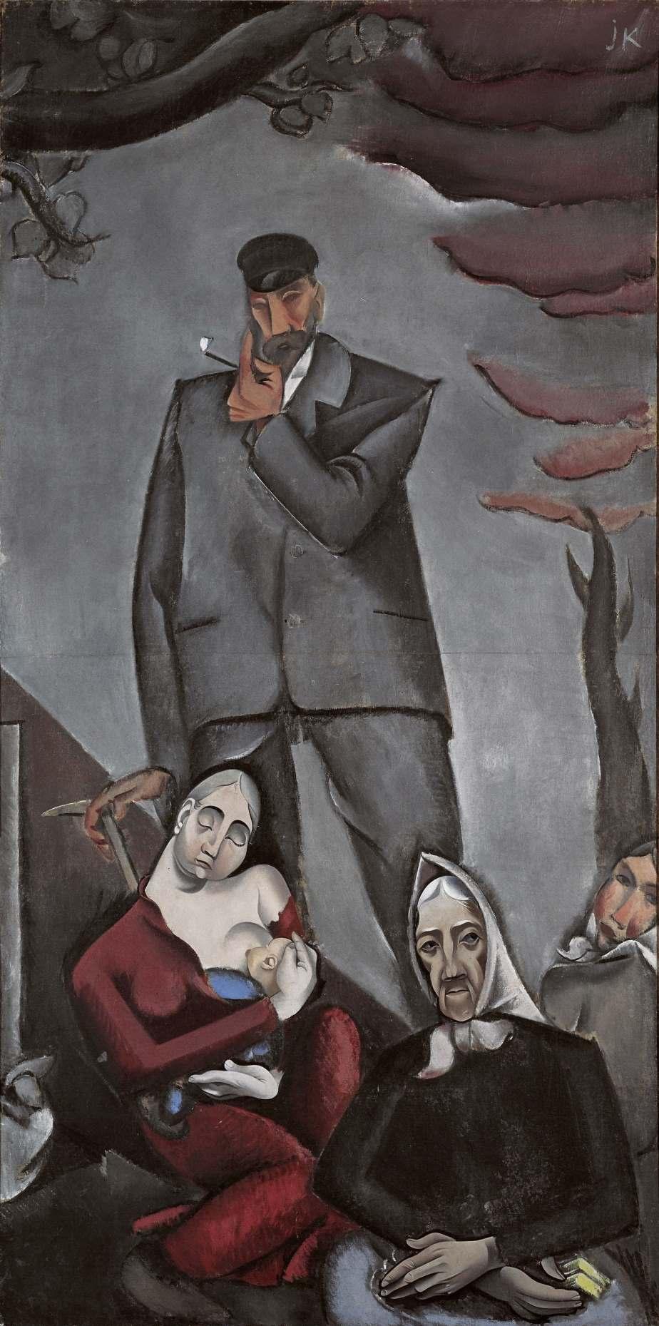 """Migration in der Kunst: """"Flüchtlinge"""" (1917) von Jēkabs Kazaks, Öl. Sammlung Lettisches Nationales Kunstmuseum, Riga. Gemeinfrei, via Europeana."""