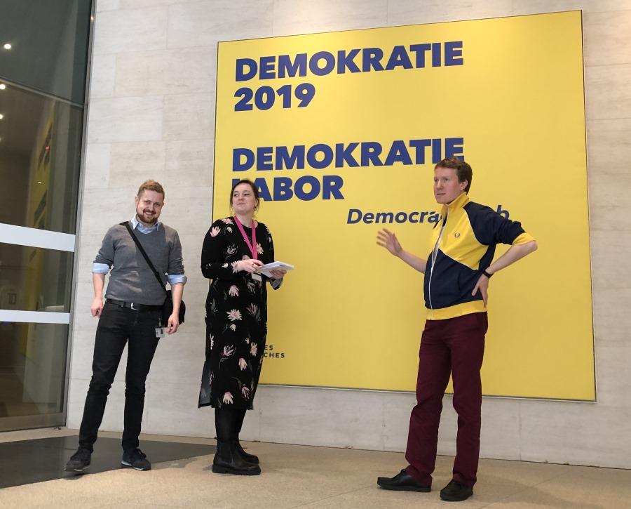 Peter Schützhold und das Team zur Absprache der Blogparade #DHMDemokratie