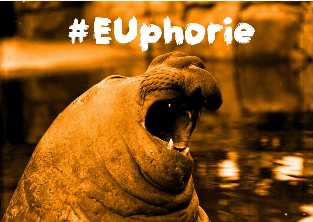 Seelöwe mit Hashtag Wo bleibt die EUphorie? (Foto: Willy Pragher aus dem LaBW) von der Website