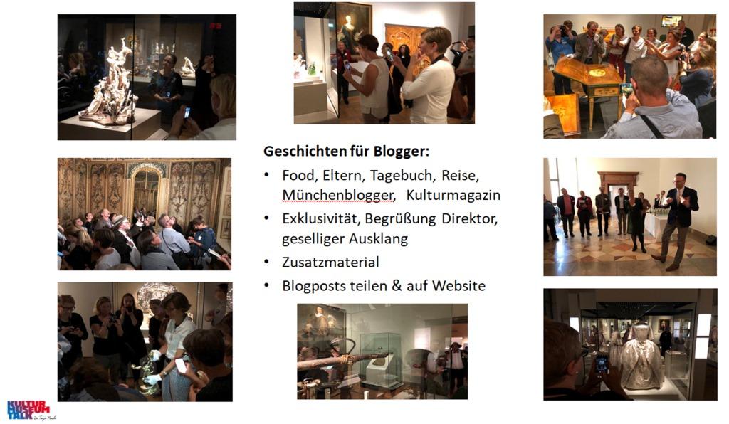 Impressionen vom BloggerWalk #BarockerLuxus im Bayerischen Nationalmuseum. Folie zum Vortrag gehalten auf der Maitagung 2019 in Düsseldorf.