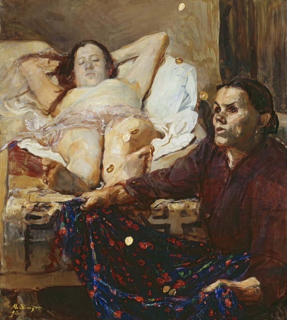Gemälde Max Slevogt von Danae, Ausstellung im Lenbachhaus 2020