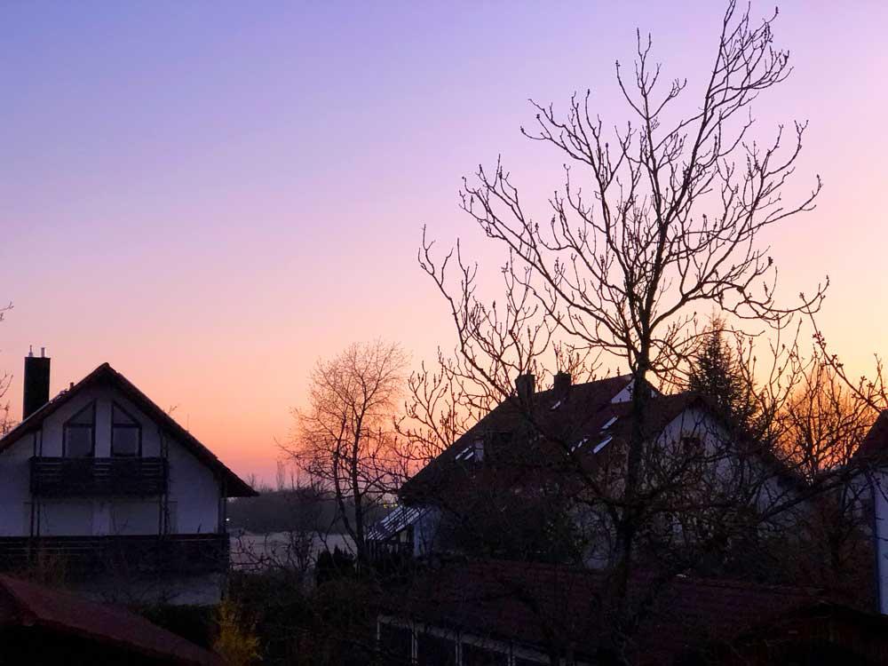 Morgens um 6:30 - klasse Farbenspiel an #wmdedgt im April 2020.